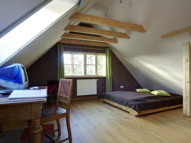 Sypialnia Na Poddaszu Aranżacja Wnętrz Z Kącikiem Do Pracy