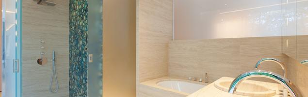 Drewniana łazienka w stylu skandynawskim