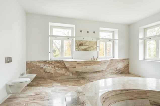 Zobacz Galerię Zdjęć Kamień W łazience Jasna Marmurowa