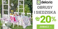 Majówkę czas zacząć! Siedziska, obrusy, meble tarasowe, ceramika, dekoracje do -20%!