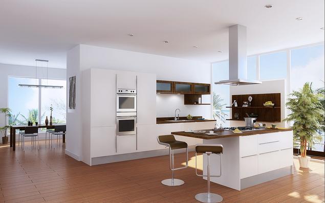Zobacz galerię zdjęć Kuchnia z wyspą Aranżacja białych   -> Kuchnia Weglowa Obi